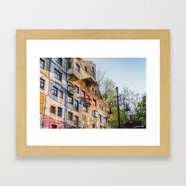 Hundertwasserhaus Vienna Austria Framed Art Print
