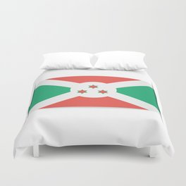 Flag of Burundi.  The slit in the paper with shadows. Duvet Cover