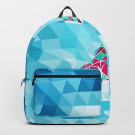 New Zealand Map : Square Backpack
