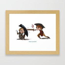 Alistair Surrenders! Framed Art Print