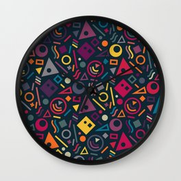 Colourful pattern Wall Clock
