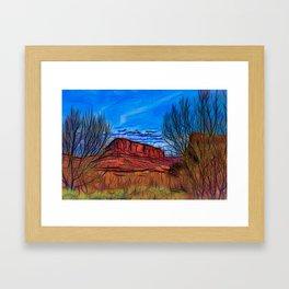 Banks of the Colorado Framed Art Print