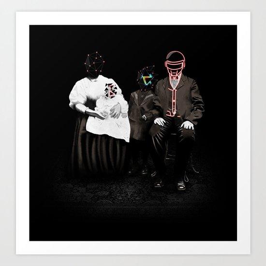 Daft Family Art Print