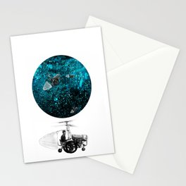 walk in space Stationery Cards