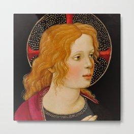 "Alessandro Botticelli ""Christ with Saint John the Baptist"" detail 2. Metal Print"