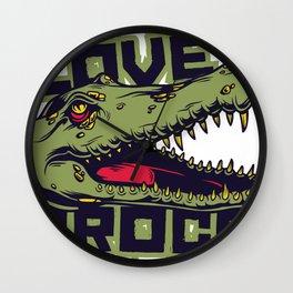 Love Crocs Crocodile Lover Wall Clock