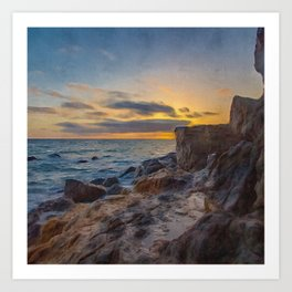 Rocky Shores   Oil Painting  Art Print