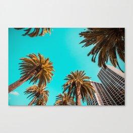Tropical Beach Palms Canvas Print