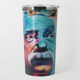 Einstein graffiti Travel Mug