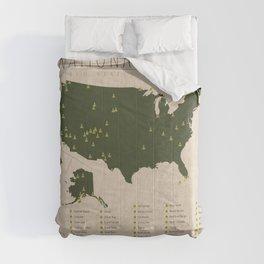 US National Parks Comforters
