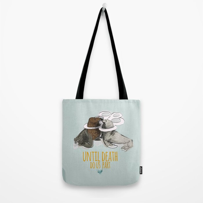 until death do us part (PLASTICOCEANS) Tote Bag