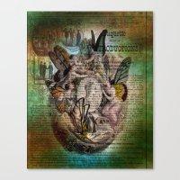 fairies Canvas Prints featuring Fairies by Moon Willow