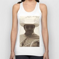 cowboy Tank Tops featuring Cowboy by DistinctyDesign