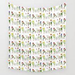 Spring Flowering Bulbs Wall Tapestry