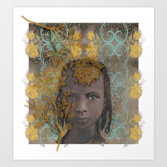 Berber girl Art Print