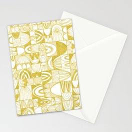 Golden Doodle squares Stationery Cards