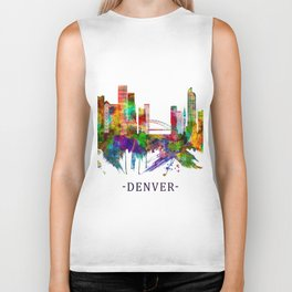 Denver Colorado Skyline Biker Tank