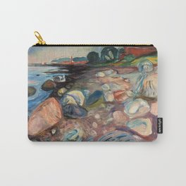 """Edvard Munch """"Shore with Red House"""", 1904 Carry-All Pouch"""