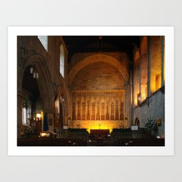 St. Mary and St. Cuthbert, Bolton Abbey Art Print