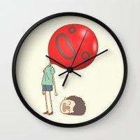 balloon Wall Clocks featuring balloon by cedricel