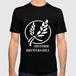 Brewers Hill Neighborhood White Signage T-shirt