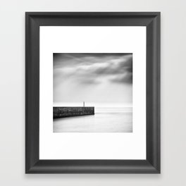 Lonely Harbour Framed Art Print