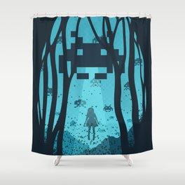 8 Bit Invasion Shower Curtain