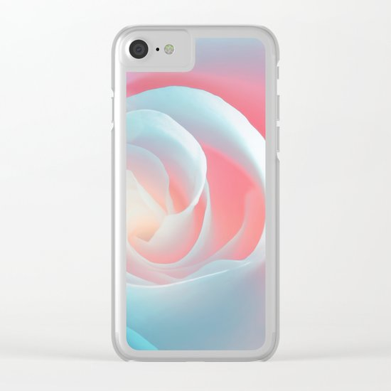 Rose flower and bokeh- Roses Clear iPhone Case