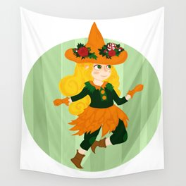 The Little Witch Wall Tapestry