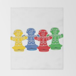 Candy Board Game Figures Throw Blanket