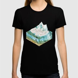Low Poly Arctic Scenes - King Penguins (Isometric) T-shirt