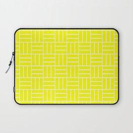 Basketweave (White & Yellow Pattern) Laptop Sleeve