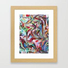 decollage Framed Art Print