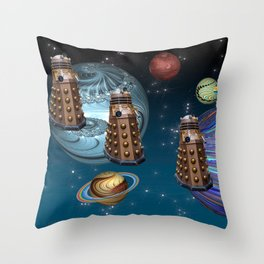 March Of The Daleks Throw Pillow