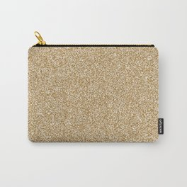 Melange - White and Golden Brown Carry-All Pouch