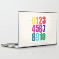 numbers Laptop & iPad Skins featuring Numbers by Laura Flowerday (PaperCrane)