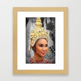 Festival Queen. Framed Art Print