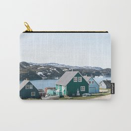 Coloured houses of Greenland Carry-All Pouch