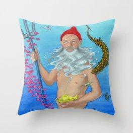 Ruler of the Deep Throw Pillow