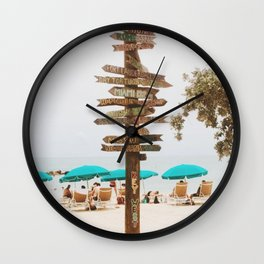 Key West Beach Day  Wall Clock