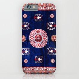 Khotan East Turkestan Floral Rug Print iPhone Case
