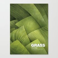 grass Canvas Prints featuring Grass by Yevheniia Hlova