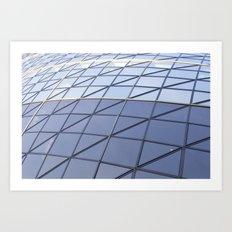 The Gherkin Abstract  Art Print