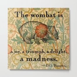 Ode to a Wombat Metal Print