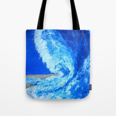 Big Wave  palette knife abstract Tote Bag
