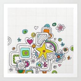 doodle stats Art Print