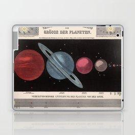 Vintage Solar System Size Comparison Chart (1855) Laptop & iPad Skin