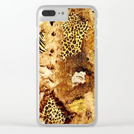 Layers of Leopard Clear iPhone Case