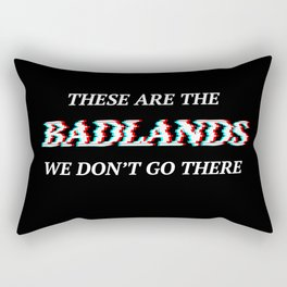 Halsey 3D Glitch Badlands Quote Rectangular Pillow