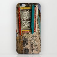 detroit iPhone & iPod Skins featuring Enjoy Detroit by AlfesDesigns